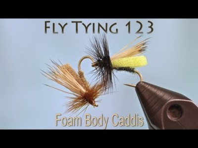 [Video] How to Tie a Foam Body Caddis